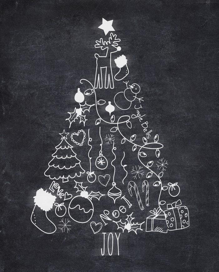 chalkboard christmas tree idea
