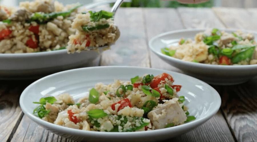 chicken fried cauliflower rice recipe