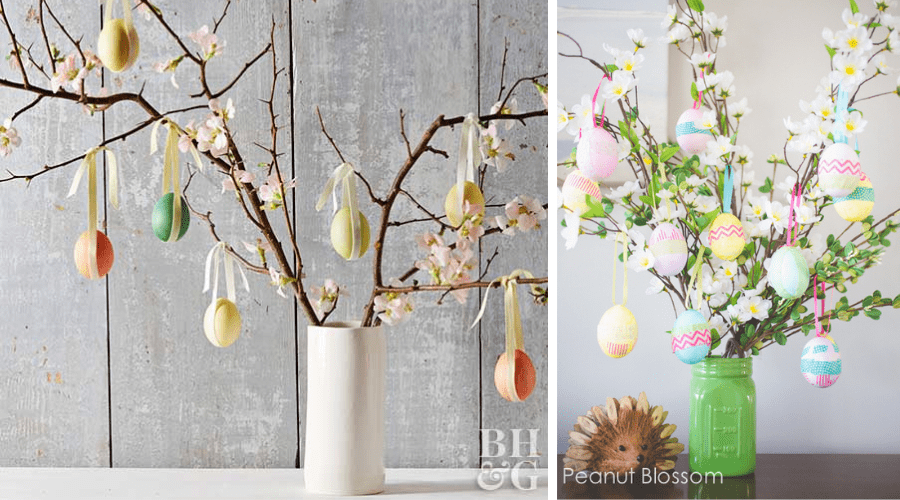 Easter Egg themed trees