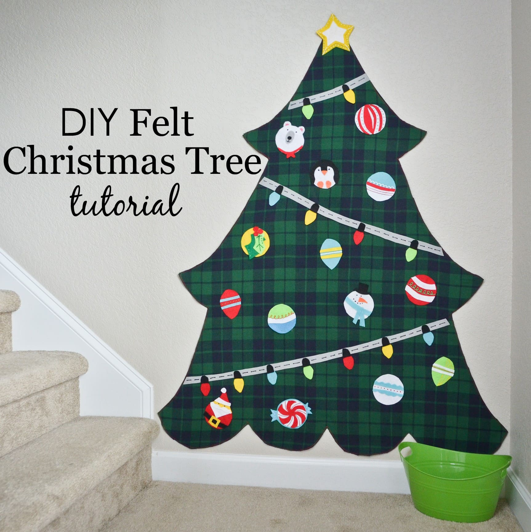 diy felt tree tutorial