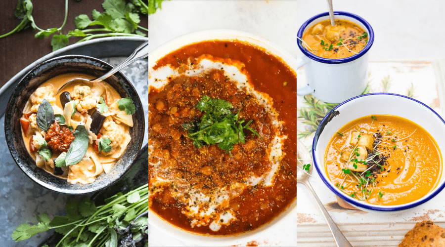 healthy winter soups with plant based broth