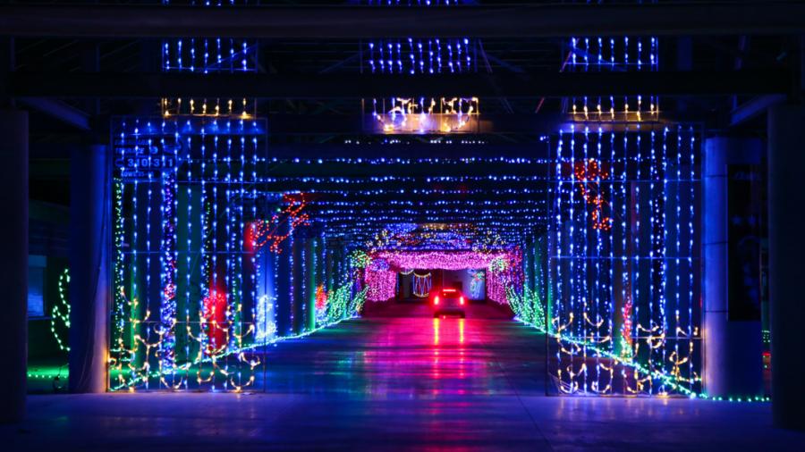 las vegas motor speedway glittering lights