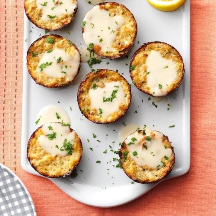 lemony salmon patties recipe taste of home