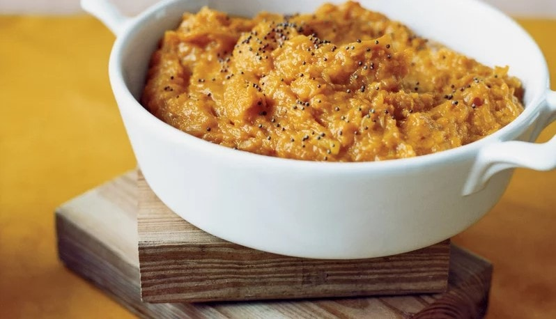 mashed winter squash with indian spices recipe