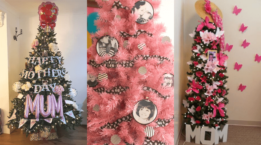 year round trees decorated for mothers day