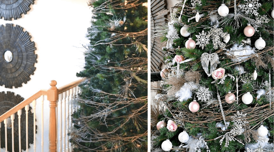 natural christmas decoration grapevine wreath garland tutorial diy