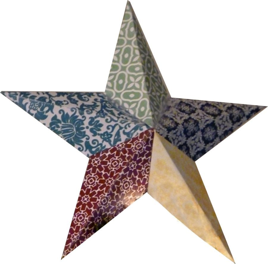 patterned star diy Christmas Tree topper tutorial