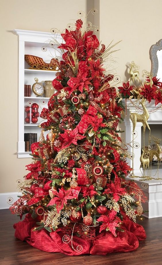 red on red on red christmas tree