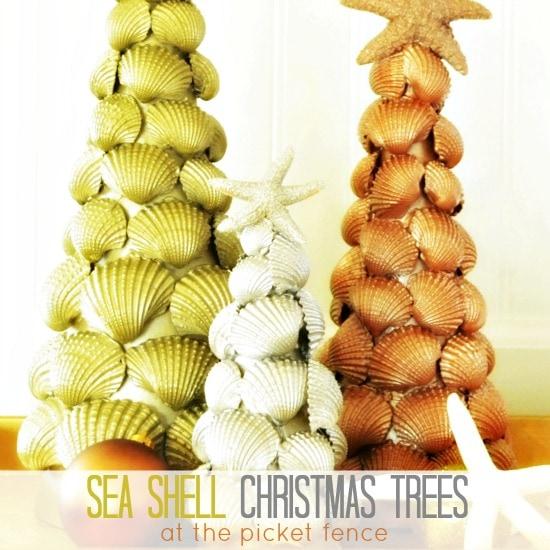 seashell christmas tree tutorial alternative Christmas tree ideas