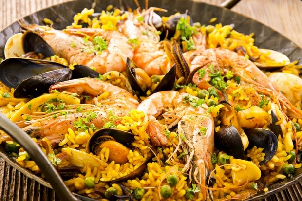 seafood paella recipe epicurious