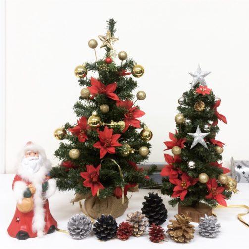 mmini christmas tree decoration centerpiece with ceramic santa