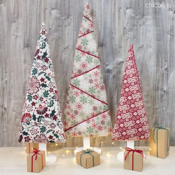diy upholstered christmas tree idea diy