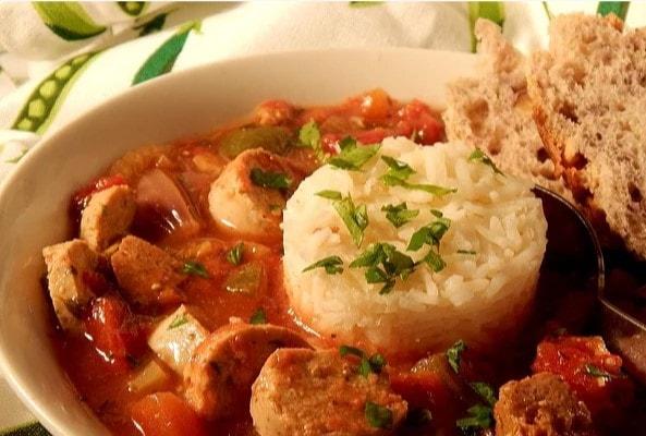 vegan slow cooker jambalaya crock pot recipe