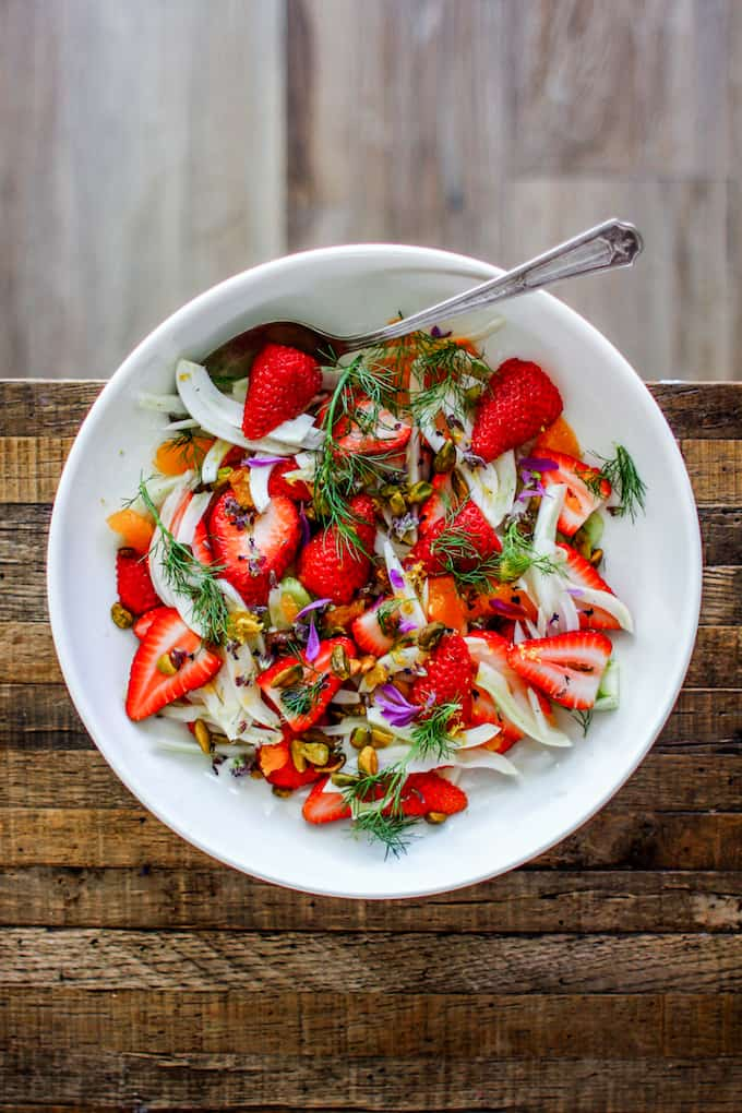 winter salad with strawberries and fennel recipe