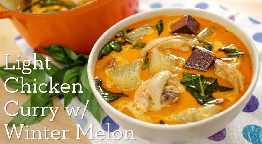 winter melon chicken curry recipe