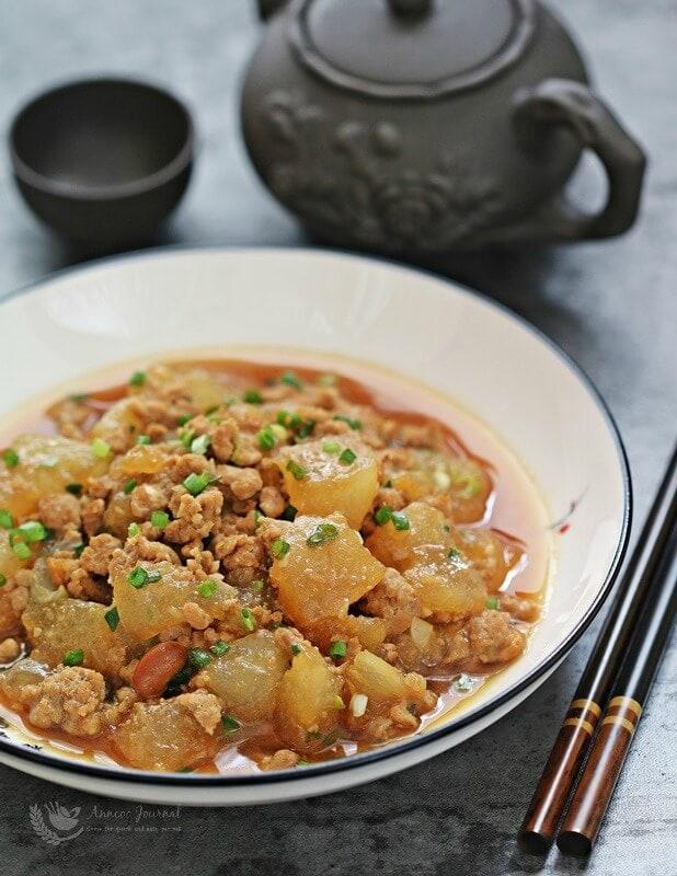 winter melon minced pork stir fry recipe
