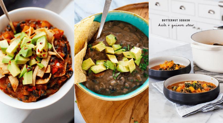 winter soup 1 butternut chili black bean soup quinoa stew recipes for vegetarians