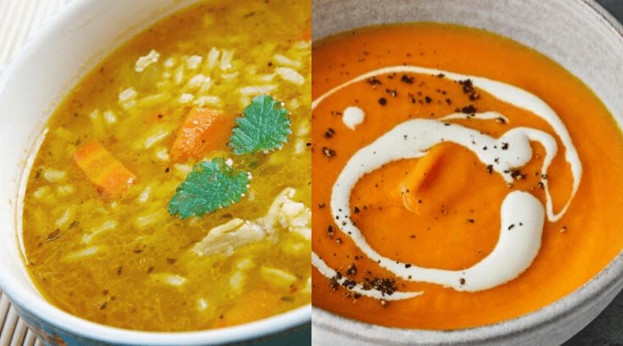 winter soup recipes easy mulligatawny and carrot orange soups