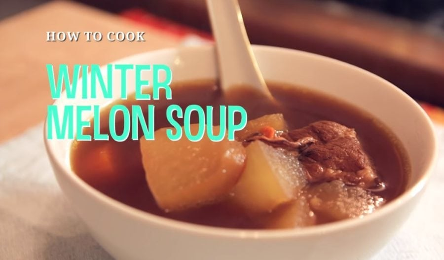 traditional winter melon soup with bone broth