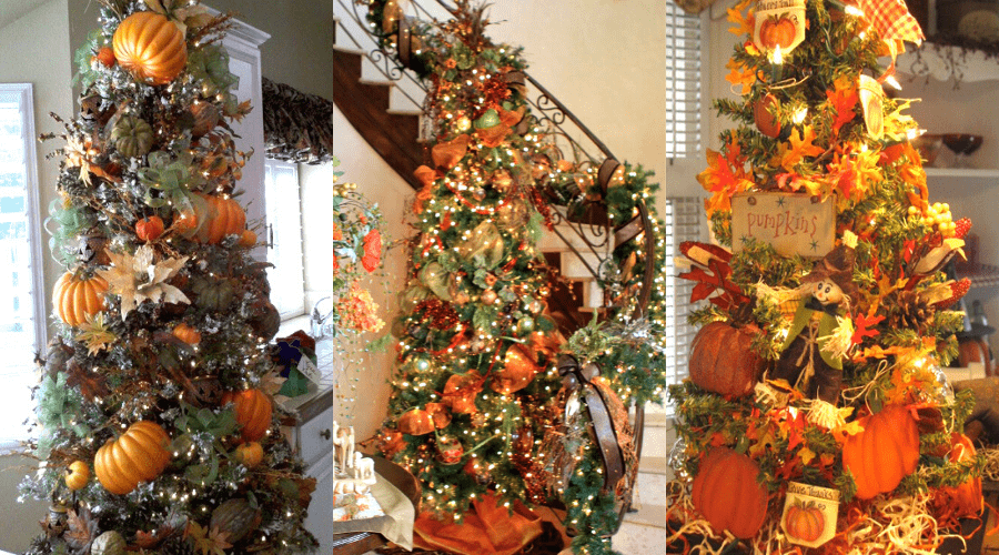 pumpkin season fall decorations ffor year round christmas trees