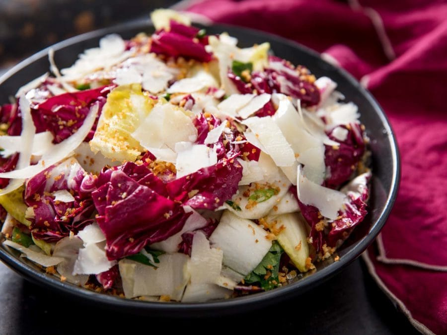Radicchio, Endive, and Anchovy Salad Recipe serious eats recipe