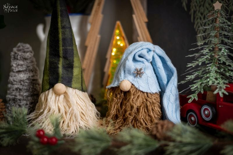 No-Sew Bearded Christmas Gnomes tutorial diy