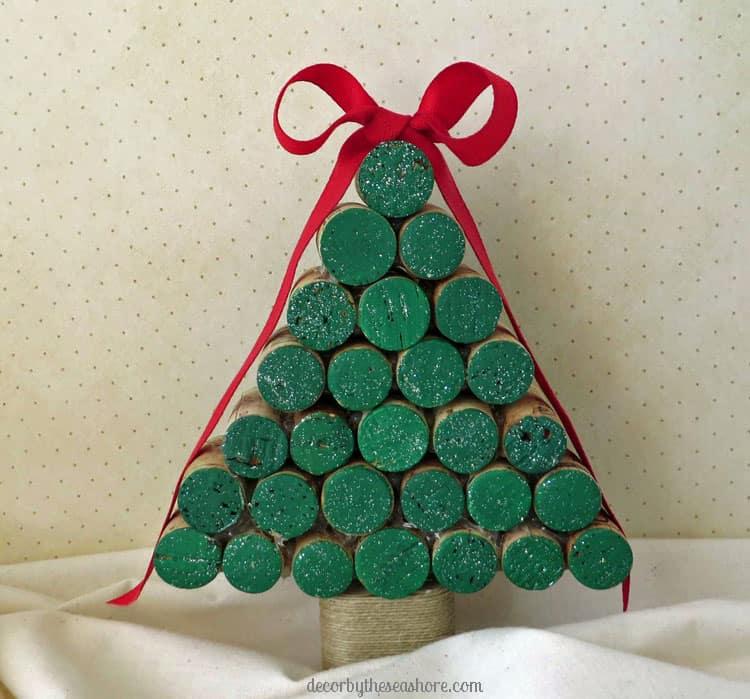 wince cork christmas tree diy tutorial