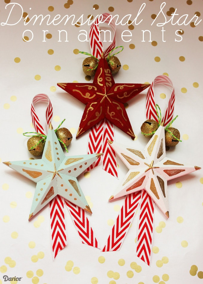 dimensional star ornament diy tutorial darice