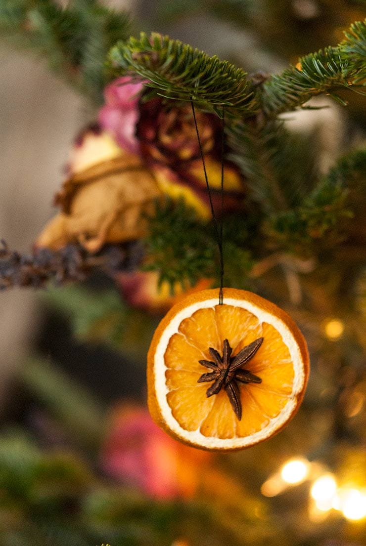 dried citrus ornaments tutorial
