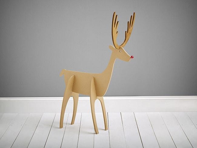 wooden reindeer yard art black and decker
