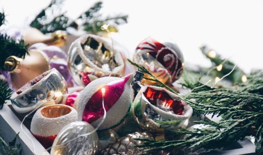 A collection of vintage Christmas ornaments