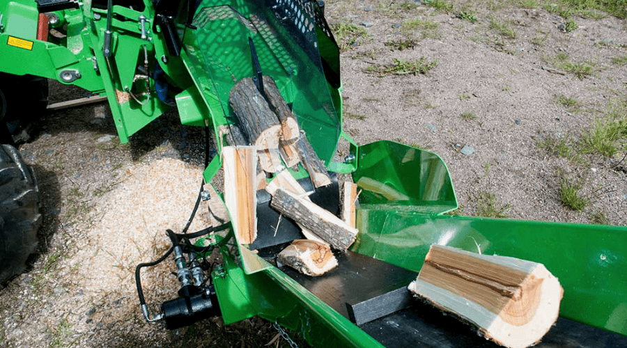 best firewood processor wide featured avant attachment conveyor in use