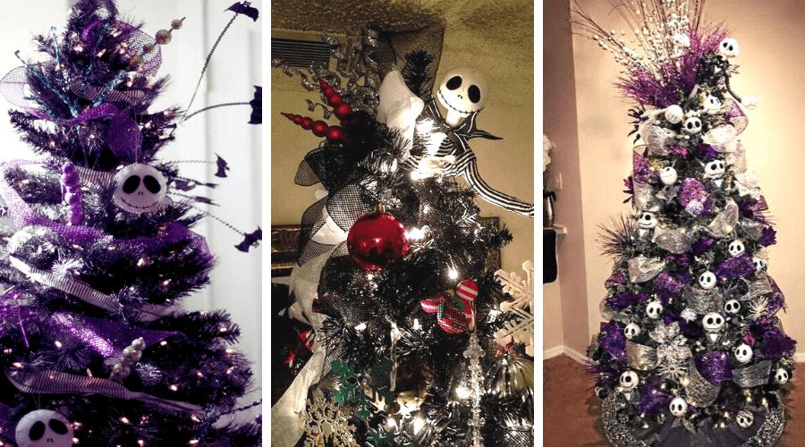 black xmas tree ideas wide nightmare before christmas