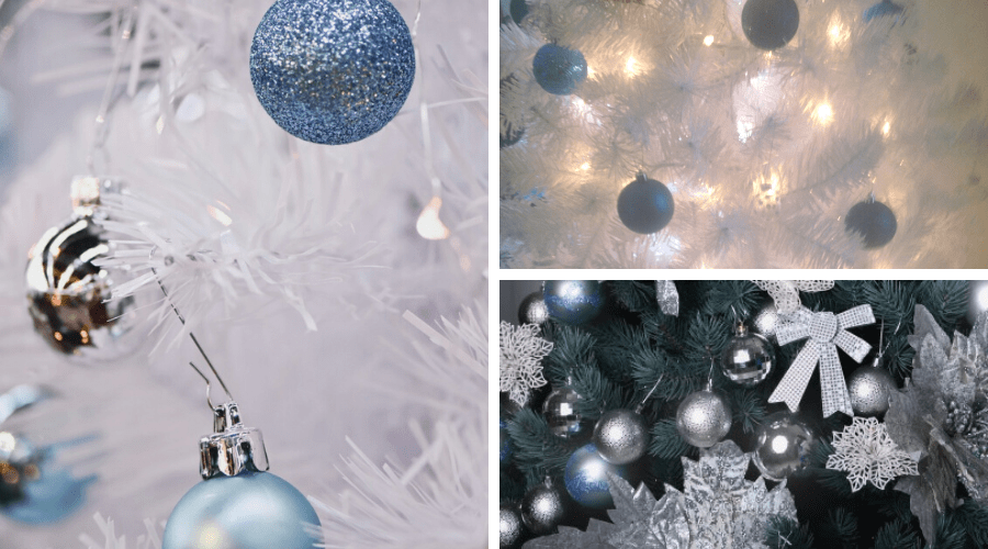 blue xmas tree ideas baby blue decor