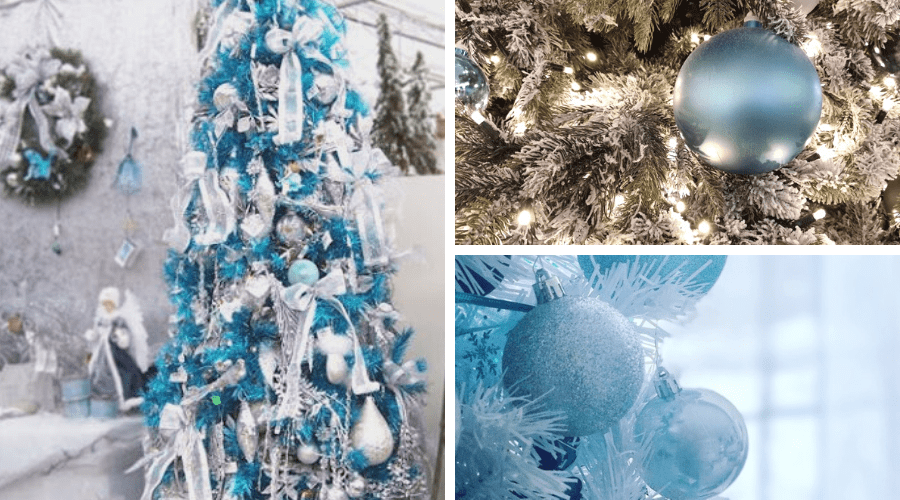 blue xmas tree ideas baby blue