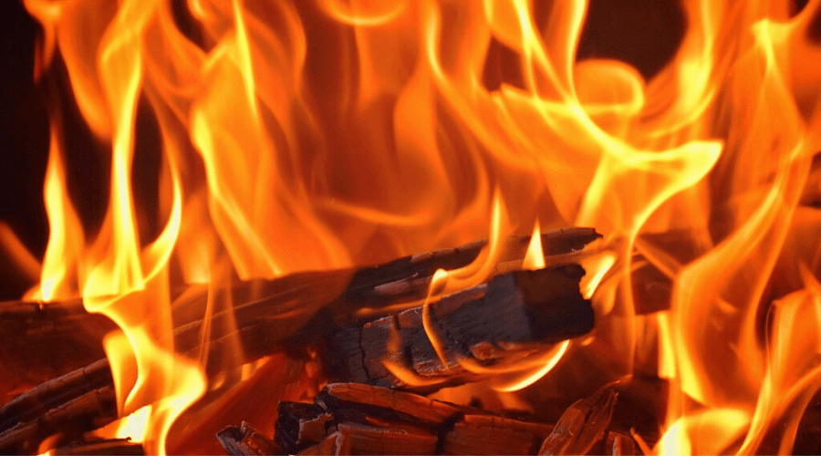 can i burn wood in my gas fireplace wide fire closeup