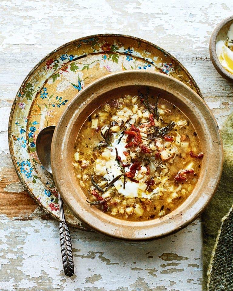 celeriac and barley soup recipe