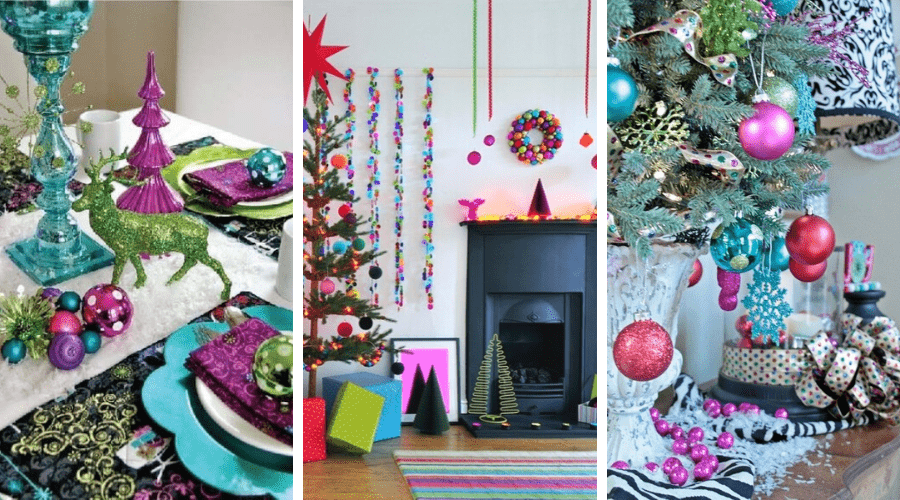 christmas decorating ideas bold nontraditional color