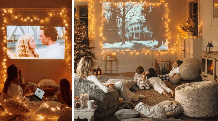 christmas decorating ideas movie night