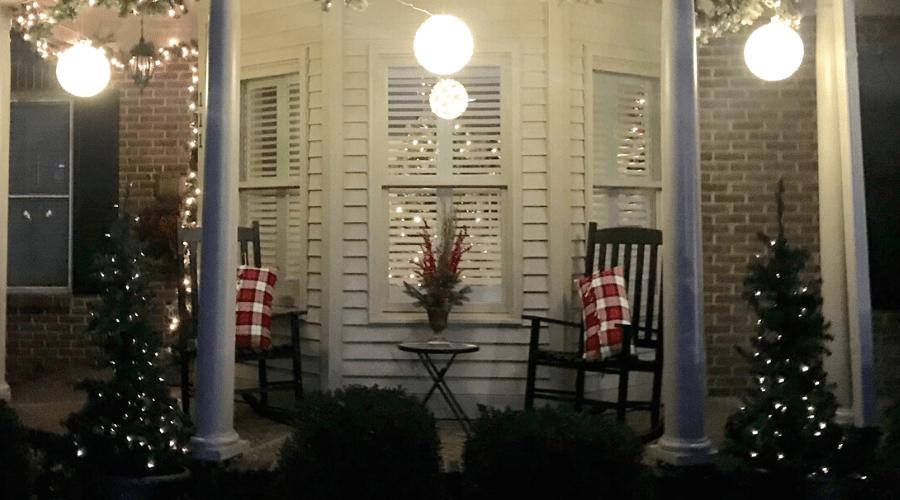 christmas front porch decor farmhouse