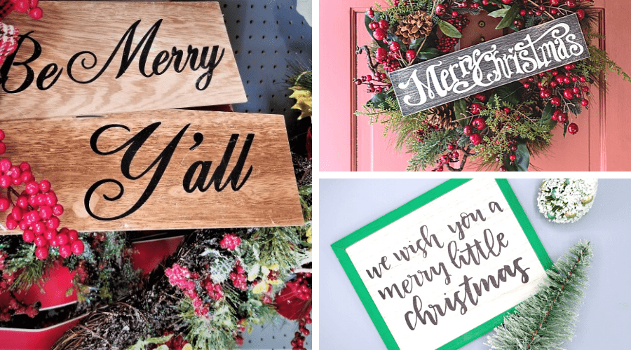 christmas front porch decor handmade signs