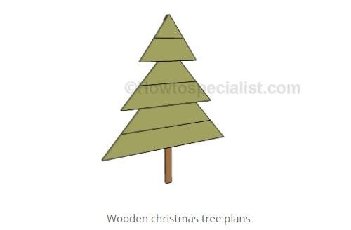 yard art christmas tree plans