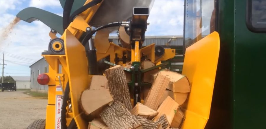 cord king cs series firewood processor outfeed demonstration