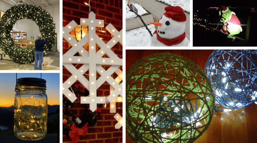 creative unusual outdoor xmas decor wide mosaic
