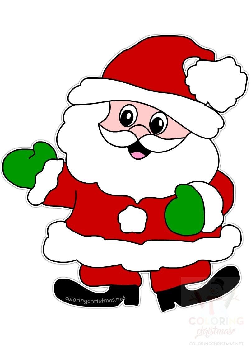 cartoon santa yard art image