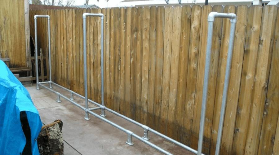 firewood storage ideas diy outdoor klean klamp rack
