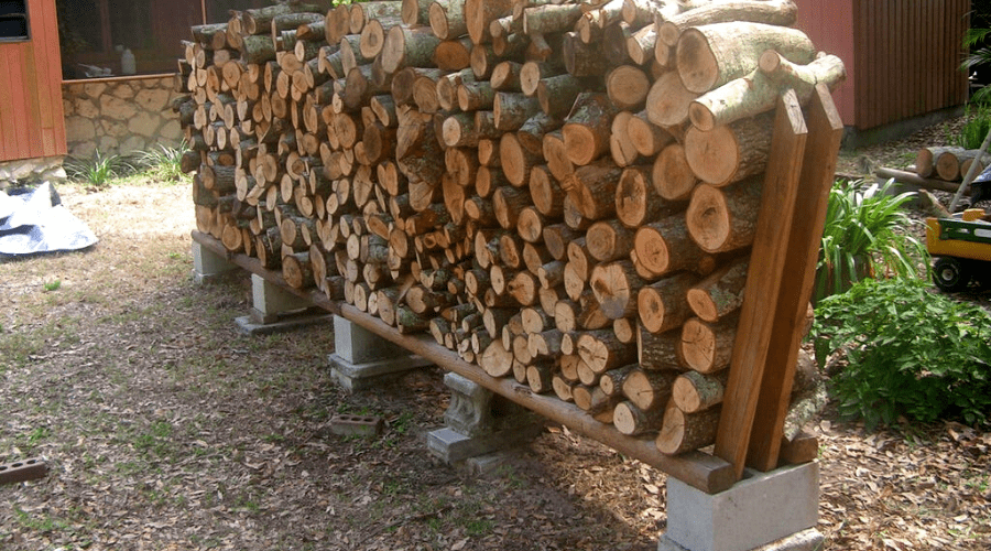 firewood storage ideas diy outdoor no tool tutorial