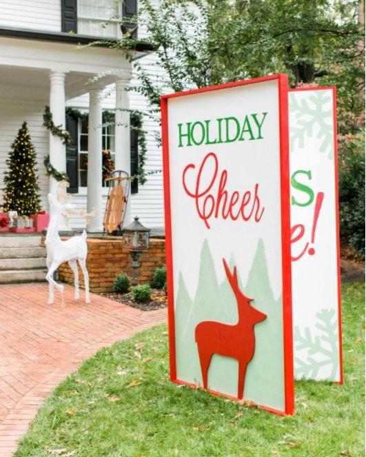 giant greeting card yard art