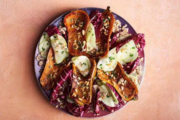Honeynut Squash with Radicchio and Miso