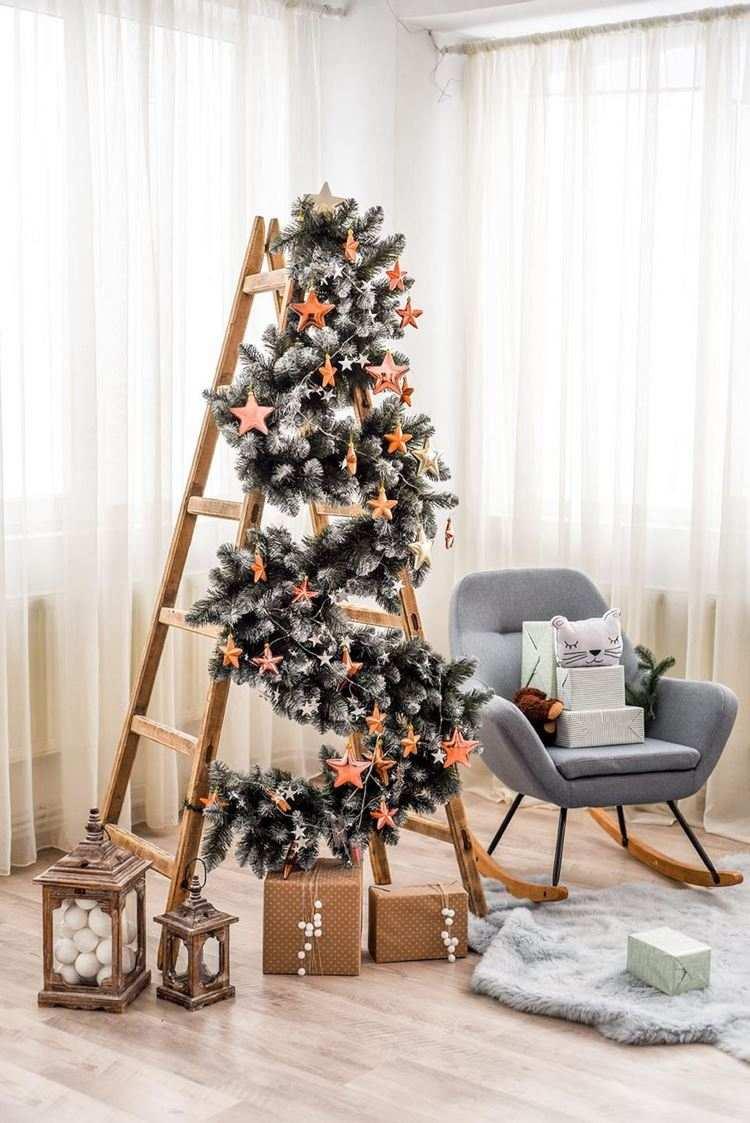 ladder christmas tree tutorial diy dea vita